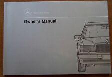 1990 Mercedes Benz 300D/300 D Owners Manual - New Old Stock - W124