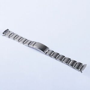 19mm Vintage 316L Steel Hollow Curved Watch band for SKX SEIKO 6139-6002 chrono
