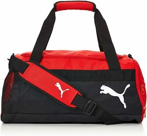 Red & Black Puma Team Goal 23 Duffle Bag S - New with tags, US seller