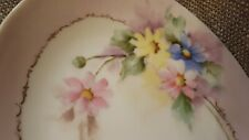 Hand Painted Porcelain Tray, Pink Floral