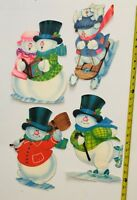 Lot Old Vintage Christmas Winter Snowman School  Home Wall & Window Decorations