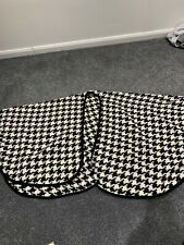 Ladies M&S Black White Patterned Cape Shawl - One Size