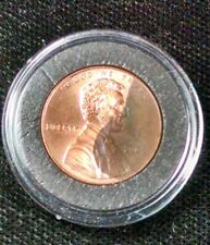 yin yang unusual toned penny lincoln cent in acrylic capsule