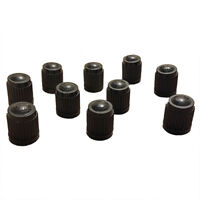 100X Black Plastic Replacement Valve Caps Cars ATV Schrader Tire Caps. L7L5 L3J3