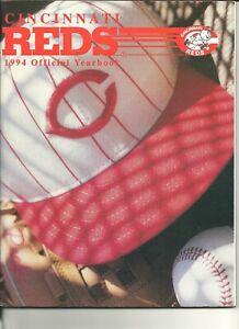 1994 Cincinnati Reds Official Yearbook Barry Larkin Jose Rijo Rob Dibble NICE
