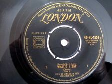 RAY CHARLES - WHAT'D I SAY,  Parts 1 & 2 - VERY RARE 1958 AUSSIE 7'' SINGLE