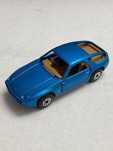 Vintage 1979 Matchbox Lesney Teal Blue Porsche 928 59F Missing Glass ERROR