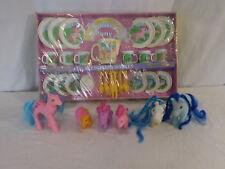 My Little Pony Tea Set Plastic Plate Cups Pitcher Vintage Hasbro Toy Rare 1984 +