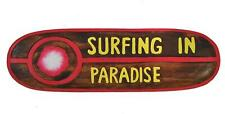 Surfboard Dekoration Surfing In Paradise Holzschild Schild Wandmaske Hawaii Tiki