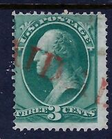 US 1800s NYC PO Fancy Cancel = Red 'PAID ALL' ~ Cole* #PA-30