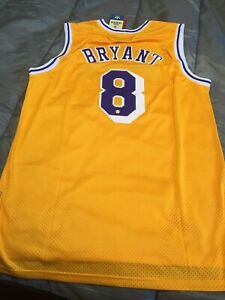 Lakers Mamba Hand Signed Kobe Bryant Autographed Adidas Jersey With Coa