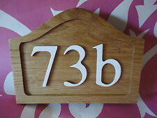 WOODEN OAK HOUSE/SHED/WALL/GARDEN/CUSTOMIZED QUALITY WOOD ART NUMBER PLAQUE/SIGN