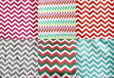Easter Hot Pink Red Gray Blue Rainbow White Chevron Stripe Satin Fabric 1 Yard