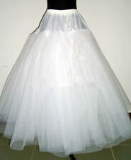 White Multilayer Wedding Dress Hoopless Bridal Crinoline Petticoat Underskirt