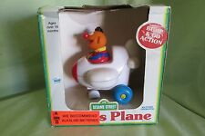 Brand New in Box Ernie's Plane Sesame Street 1992 by Ctw Illco Bump & Go Action