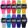 Men Women Electronic Led Digital Multifunction Plastic Sport Wrist Watch Cheap U