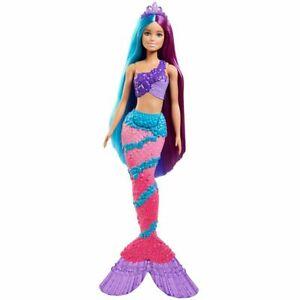 Barbie Dreamtopia Mermaid Extra Long Purple and Blue Hair 2020 - NEW