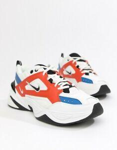 Nike Mens M2K Tekno Trainers White/Blue/Red AV4789 100 Multiple Sizes