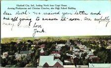1911. VIEW OF HARTFORD CITY, INDIANA. POSTCARD s2