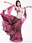 New Belly Dance Performance Costume 4PCS Set of Bra Skirt 2 Armbands 34B 36B 38B