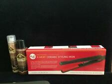 "KQC X-Heat 1"" Flat Iron + Thermail Shine Spray + Glitter - FREE FAST DELIVERY"