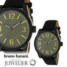 Bruno Banani Herren Uhr Armbanduhr aus Leder BR21104