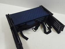 Nonslip Car Dog Steps, Portable Metal Frame - Support 150 Lbs, Navy