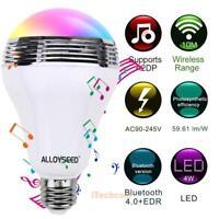 Wireless Bluetooth E27 LED Color Changing Bulb Music Audio Speaker Smart Light