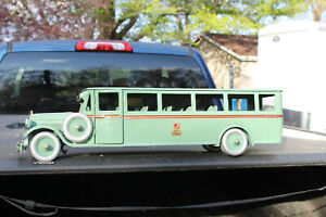 """Antique Toy Pressed Steel Truck-Buddy L Transportation Co. Bus-29"""" Long"""
