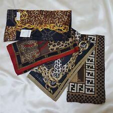 Lot of 4 Brand Cotton Silk Handkerchief