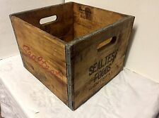 "Vintage Wooden Advertising Box ""Sealtest"" Schenectady NY"