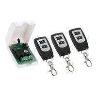 RF Relay Remote Control Light Momentary Switch 3 Transmitters with Receiver
