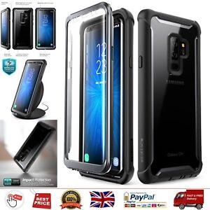 Samsung Galaxy S9+ Plus Case Full-body Rugged Clear Bumper Case Screen Protector