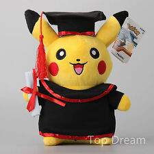 "New Pokemon Pikachu Docter Graduation Plush Doll Cute Toys 12"" Teddy Great Gift"