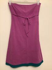 Victoria Secret Bra Top Purple Green Sleeveless Dress Stretch Womens Sz Medium