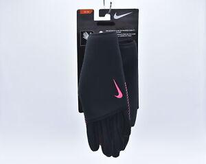 Women's Nike Sphere Running Gloves, Black / Pink, Medium