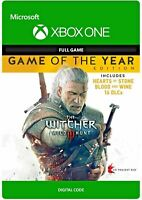THE WITCHER III 3 WILD HUNT GAME OF THE YEAR EDITION GOTY XBOX ONE FULL GAME KEY