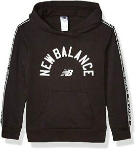 New Balance boys Hoodie Hooded Sweatshirt, Black, Medium 10 12 US