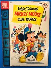 WALT DISNEY'S MICKEY MOUSE CLUB PARADE #1 (1955) Dell Giant Comics VG+