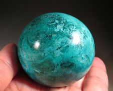 """48mm (1.9"""") Natural Blue Chrysocolla with Malachite CRYSTAL Gemstone Sphere Ball"""
