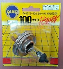2 x H4 RING BRAND HALOGEN - STANDARD HEADLIGHT GLOBE - R485 12v 100/80W CLEAR