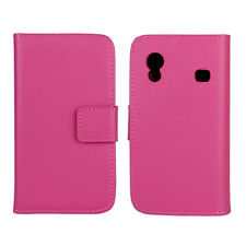 NEW PINK LUXURY GENUINE LEATHER CASE for Samsung Galaxy Ace GT-S5830/GT-S5830i