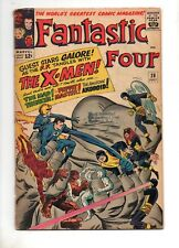 Fantastic Four 28 VG+ 4.5 Early X-MEN Crossover 1964 Same Date X-Men #6 Tuff 1