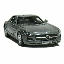 "Brand New 5"" Kinsmart Mercedes Benz SLS AMG Diecast Model Toy Car 1:36 GREY"
