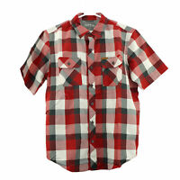 Orvis Men's Short Sleeve Woven Tech Shirt, size Medium, Red Plaid