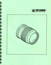 Konica UC Hexanon AR 28mm F1.8 Lens Service & Repair Manual Reprint