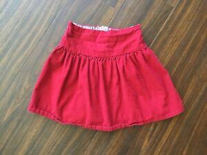 Jojo Maman Bebe Girls Red Corduroy Skirt 4-5Years