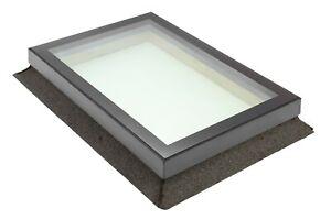 Skylight Rooflight Flat Roof 800 x 800mm ALI FRAME TRIPLE GLAZE 10.8mm LAMINATED