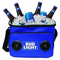 Bud Light 24-Can Insulated Cooler Bag with Bluetooth Stereo Speaker