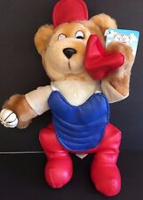 Baseball Catcher Teddy Bear Play Pet Collection Kuddle Me Toys Rare Vintage  NWT